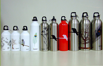 Different sizes of Earthlust Bottles